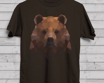 Geometric Bear T-Shirt / Festival Clothing / Custom Tee