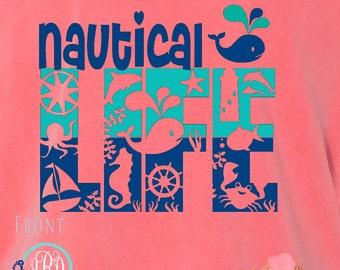 Nautical Life Cruise Life Family Cruise Shirts Monogrammed Personalized