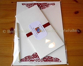 "Set: Letter paper ""Fantasia II"" (21 pieces)"