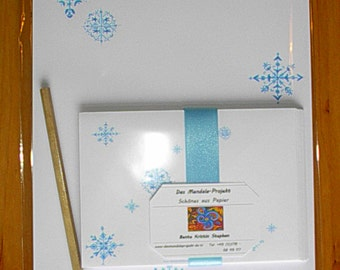"Set: letter paper ""Snow crystals"""