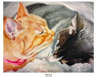 "Sarah DeYong ""Kitty Love"" art print"