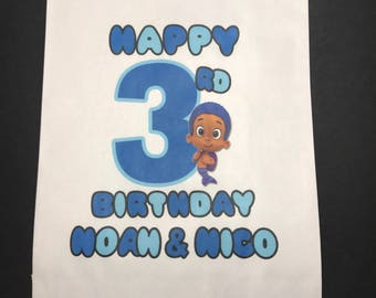 Bubble Guppies Personalized Candy Bag, bubble guppies Party Favors, Birthday Party