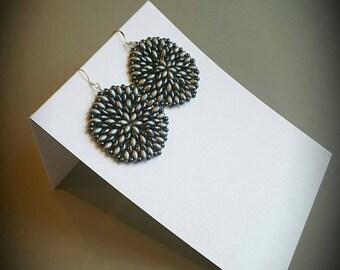 Handmade superDuo peyote earrings