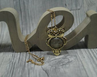 Chain OWL Locket with flower seeds