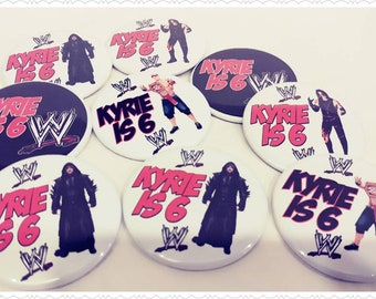 Buttons--12 Personalized Party Favors—Kid's Parties/Children's Party Accessories--Any Theme—Any Character