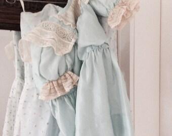 Children dress silk robe child enfant dress, antique, brocante