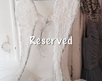 RESERVED for E angelwings white,shabby brocante