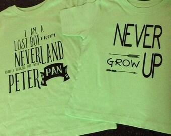 Custom Tshirt Single or Set - Peter Pan