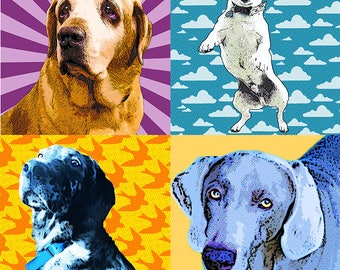 CUSTOM Pop Art Pet Portrait *Digital File*