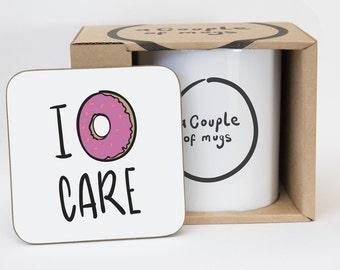 I Donut Care Coaster