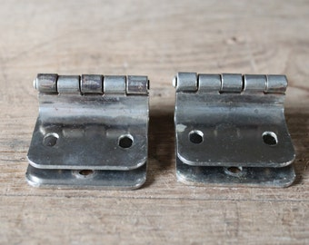Pair of chrome hinges