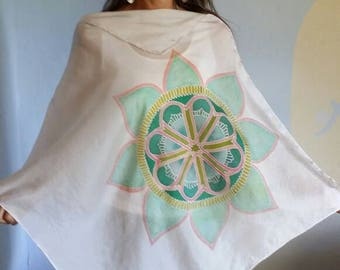 Heartseeds ...Sacred Silk Poncho Blouse, at least 8 ways to wear, always original, never duplicated