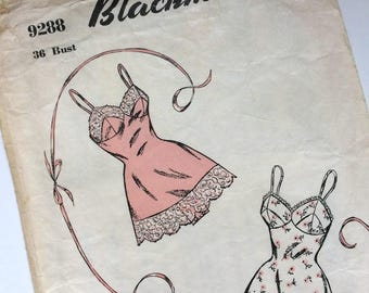 1950s Blackmore Chemise Uncut Sewing Pattern No. 9288 Modern Size 12