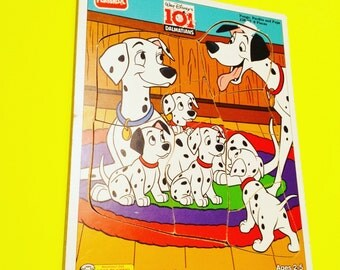 101 Dalmations Walt Disney jigsaw puzzle game toy toys cartoon vintage retro eighties 80s 1980s 90s '90s 90's 1990s nineties kid kids kid's