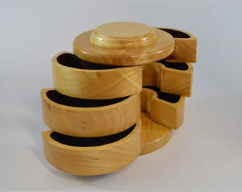 Factory Second:  Cylindrical jewelry box