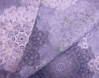 Brocade Pattern Lilac Fog - 100% Cotton