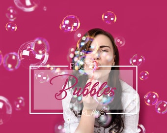 30 Bubbles Photoshop Overlays