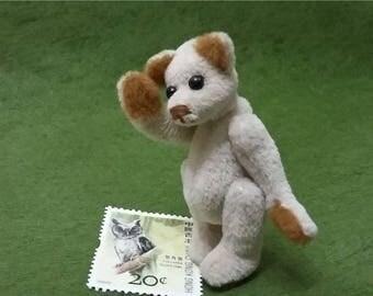 Handmade miniature teddy bear,2.5in tall,fabric plush toys,white teddy bear,collectible artist bear,tiny bear,plush teddy bear,dollhouse toy