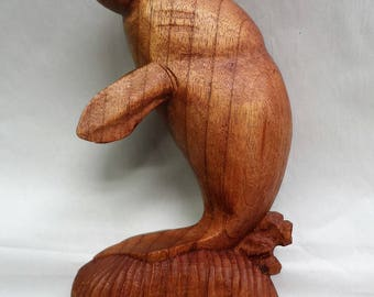 Manate wood carving (#mntv9.5)
