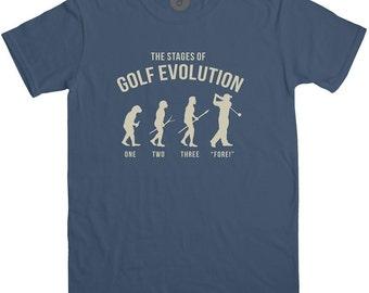 Stage Of Golf Evolution T Shirt