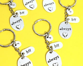 6 Best Friend Keychains with Bff Tag, 6 bff keychains, bff keychain, set of 6 friend keychains, promise keychain, 6 best friends, bff For 6