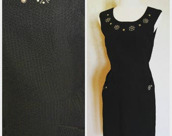Clearance *** Embellished Black Wiggle Dress with Bolero
