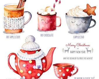 Joyeux Noël collection. Hot Drinks.