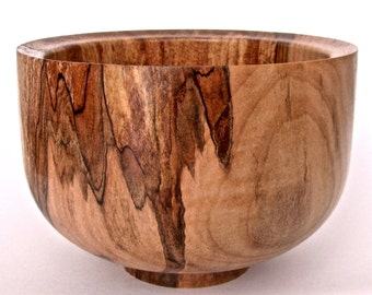 Small, spalted maple bowl.