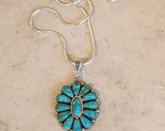 Kingman Turquoise Pendant Design 14