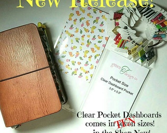 Clear Dashbord, Top Loading Pocket, Travelers Notebooks , Chic Sparrow, Midori, Fauxdori, Foxy Fix, TN