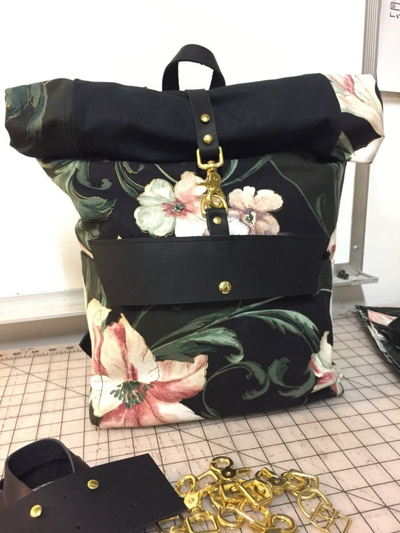 Floral Rolltop Backpack - Seconds Discount
