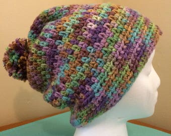 Slouchy Hat - Water Lily