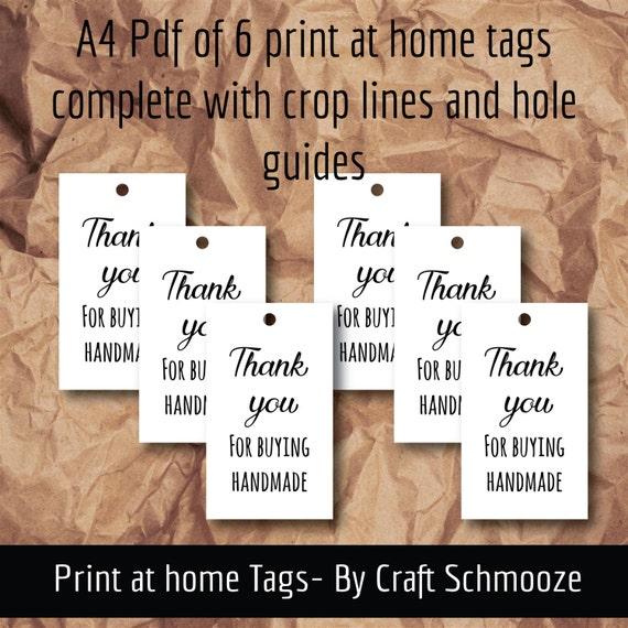 White, printable, handmade tags, handmade labels, gift tag, digital download, printable gift tag,