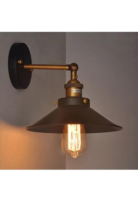 Industrial modern steel light wall fixture