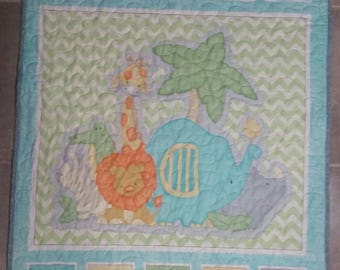 Baby Animal Quilt/Blanket, Animal Quilt/Blanket, Zoo Quilt/Blanket, Jungle Quilt/Blanket