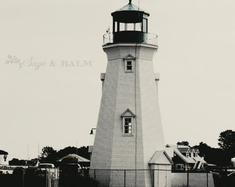 Lighthouse nautical seaside beachy print, black and white nautical photography, lighthouse, travel photography, seaside, nautical print