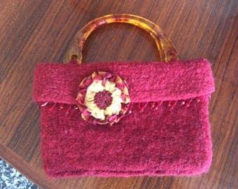 Felted Handbag - handmade