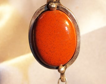 Red Jasper silver sterling jewels pendant HOMEMADE