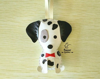 Maxi The Dalmatian Leather Charm