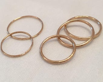 Stacking Rings Gold Filled