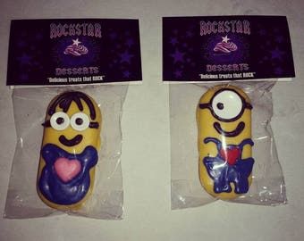 Minion Chocolate Covered Sandwich Cookie