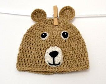 Teddy bear baby hat (9/12 months)