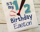 personalized half birthday boy shirt, half birthday shirt, cake smash outfit boy, 6 month photo outfit boy, 6 month birthday baseball shirt