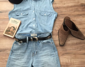Vintage Chambray Sleeveless Top