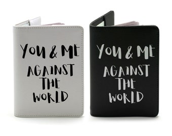 You & Me - Personalized couple passport cover/holder - Travel Passport Cover - High Quality Handmade Leather |TPS-PPC-622,623