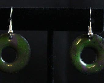 Enameled Copper Earrings (031217-014)