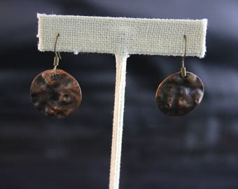Hammered Copper Earrings (05212017-022)