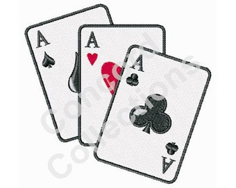 Poker Cards Machine Embroidery Designs