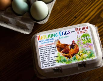 Custom Egg Carton Labels Chalkboard Style by AuthenticHeirloomsCo