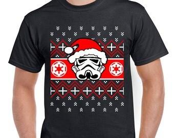 Christmas Star Wars Storm Trooper Santa Men's Funny T-Shirt